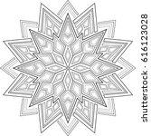 beautiful mandala pattern....   Shutterstock .eps vector #616123028