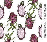 seamless pattern with... | Shutterstock .eps vector #616125908