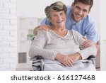 senior care assistant with... | Shutterstock . vector #616127468
