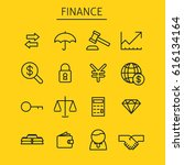 finance icons set. businessman  ... | Shutterstock .eps vector #616134164