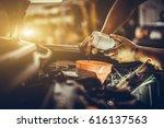 Maintenance car repair automotive worker - stock photo