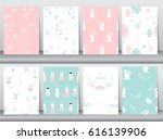 set of seamless background... | Shutterstock .eps vector #616139906