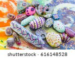 multicolored stones and... | Shutterstock . vector #616148528