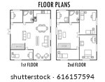 architecture plan with...   Shutterstock .eps vector #616157594