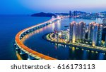 aerial view busan gwangandaegyo ... | Shutterstock . vector #616173113