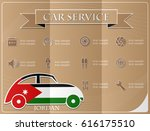 car service made from the flag... | Shutterstock .eps vector #616175510