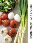 assortment of fresh vegetables... | Shutterstock . vector #616179383
