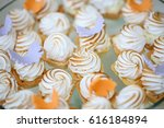 close up detail of sweets on a... | Shutterstock . vector #616184894