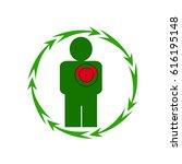 vector illustration. the emblem ... | Shutterstock .eps vector #616195148