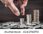 a lot of money is placed in... | Shutterstock . vector #616196093