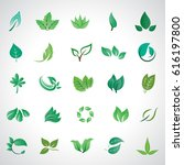 leaf icons set  vector... | Shutterstock .eps vector #616197800