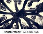 group of diversity people hands ... | Shutterstock . vector #616201766