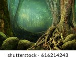 Landscape With Shady Forest ...
