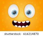Monster Face Fun Vector...