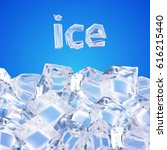 background with ice cubes | Shutterstock .eps vector #616215440