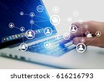 concept view of business...   Shutterstock . vector #616216793