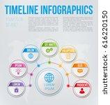 infographics flower style chart ... | Shutterstock .eps vector #616220150