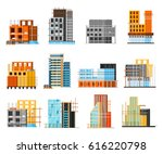 set of icons of unfinished... | Shutterstock .eps vector #616220798