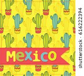 mexico   vector greeting card ... | Shutterstock .eps vector #616222394