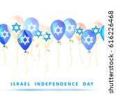 israel independence day. vector | Shutterstock .eps vector #616226468