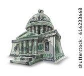capitol building us dollar.... | Shutterstock . vector #616233668
