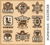 set of wild west logos  badges... | Shutterstock . vector #616238168