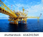 offshore construction platform... | Shutterstock . vector #616241564
