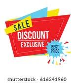 discount sale sticker origami | Shutterstock .eps vector #616241960