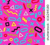 trendy modern geometric... | Shutterstock .eps vector #616244180