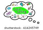 illustration of a social... | Shutterstock . vector #616245749