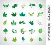 leaf icons set  vector... | Shutterstock .eps vector #616250234