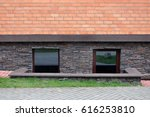 the basement of the brick... | Shutterstock . vector #616253810