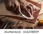 handmade leather  | Shutterstock . vector #616258859