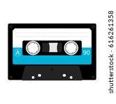 plastic audio tape cassette....   Shutterstock .eps vector #616261358
