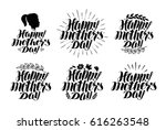 happy mother's day  label set.... | Shutterstock .eps vector #616263548