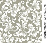 seamless beige and white floral ... | Shutterstock .eps vector #616268078