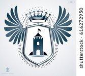 vector heraldic sign made with... | Shutterstock .eps vector #616272950