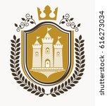 heraldic coat of arms... | Shutterstock .eps vector #616273034
