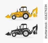 vector illustration excavator | Shutterstock .eps vector #616274234