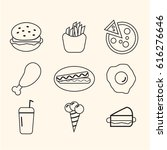 fast food line icon  vector... | Shutterstock .eps vector #616276646
