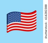 usa 3d flag. united states of... | Shutterstock .eps vector #616282388