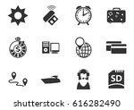 travel vector icons for user... | Shutterstock .eps vector #616282490