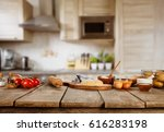 baking ingredients placed on... | Shutterstock . vector #616283198