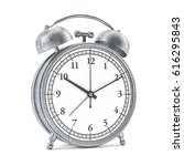old style alarm clock isolated... | Shutterstock . vector #616295843