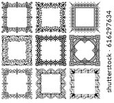 collection of vector square... | Shutterstock .eps vector #616297634