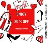 battle of the shoes. high heels ...   Shutterstock .eps vector #616302818