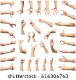 male hand gesture and sign... | Shutterstock . vector #616306763