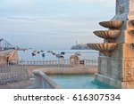 detail of a fountain with view... | Shutterstock . vector #616307534