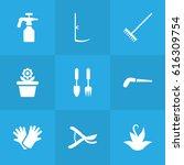 set of 9 farm icons set...   Shutterstock .eps vector #616309754