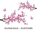 vector cherry blossom branches... | Shutterstock .eps vector #61631686